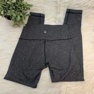 Lululemon Athletic Wear Herringbone Gray Leggings
